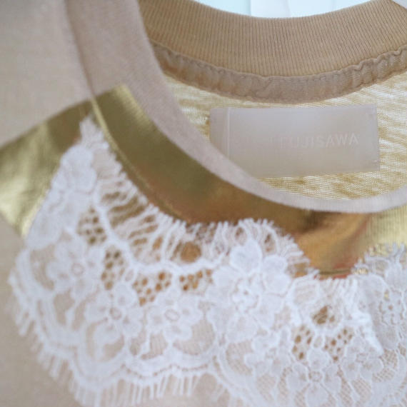 『yukifujisawa』conceal  print Tshirts+Lace
