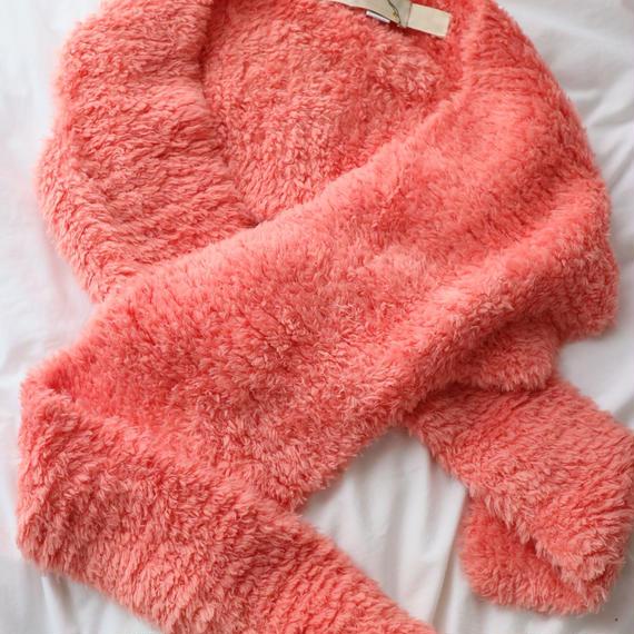 [SEIKO TAKI] knit  scarf  coral pink