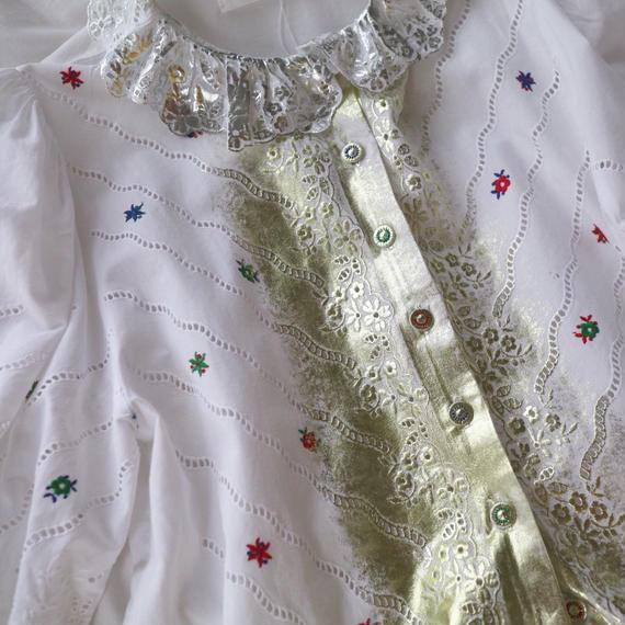 yukifujisawa lace blouse flower