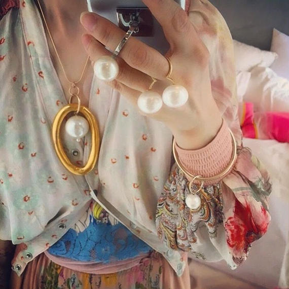 Hoop La Pendant Necklace