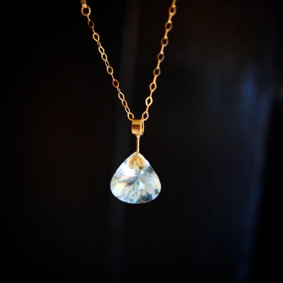 imago aquamarine necklace
