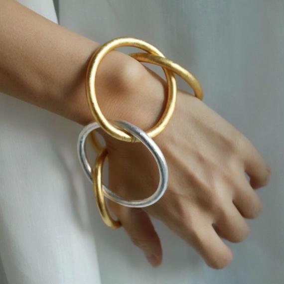 imago chainbangle gold&silver