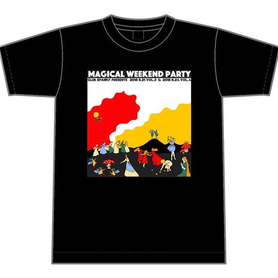 MAGICAL WEEKEND PARTY Tシャツ(黒)