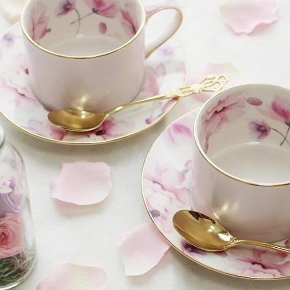 【2客セット】クリスティーヌ柄♡カップ&ソーサー