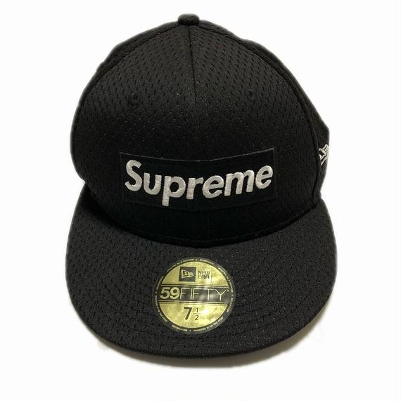 Supreme Mesh Box Logo New Era Black 7-1/2 18SS 【中古】