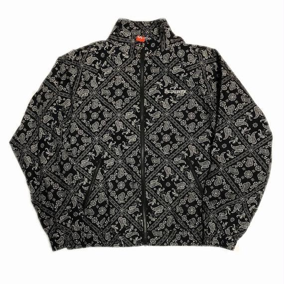 Supreme Bandana Track Jacket Black M 18SS 【中古】