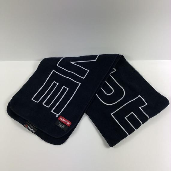 Supreme Polartec Fleece Muffler Navy 17AW 【中古】
