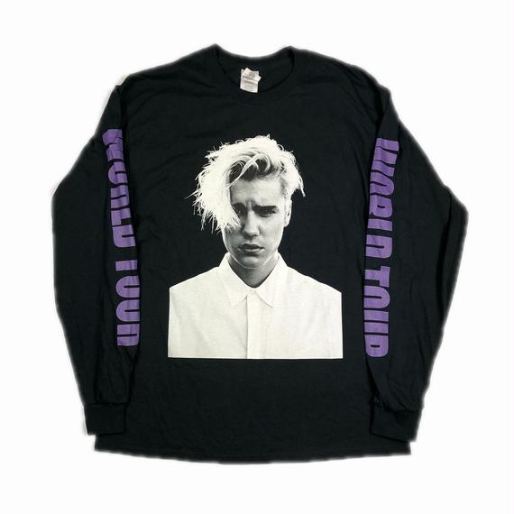 JUSTIN BIEBER PURPOSE TOUR GR8 EXCLUSIVE L/S TEE L 【中古】