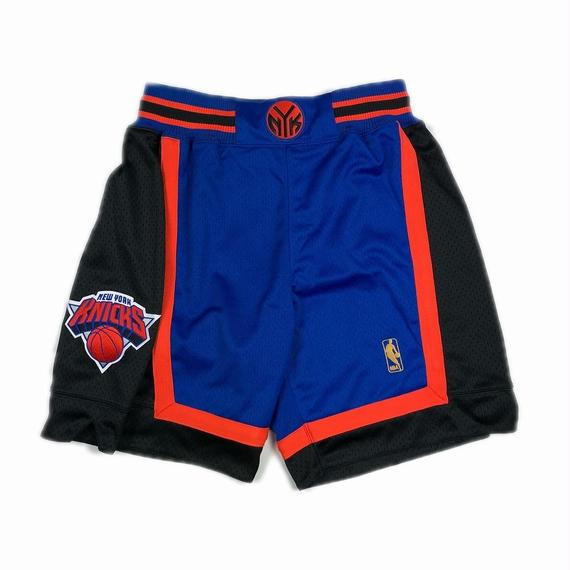 MITCHELL & NESS BASKETBALL AUTHENTIC SHORTS NBA NEW YORK KNICKS BLUE M 【中古】