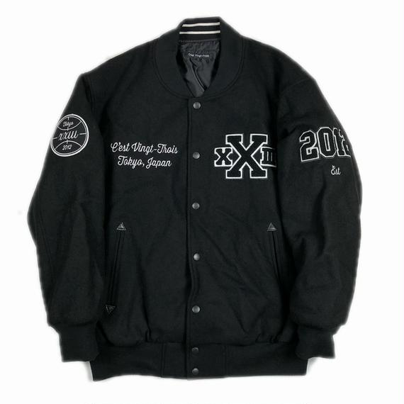 XXIII C'est Vingt-Trois セバントゥア VARSITY TEAM JACKET BLACK L 【中古】
