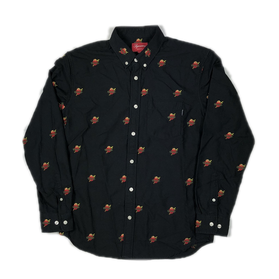 Supreme Sacred Hearts Oxford Shirt Black S 17AW【中古】