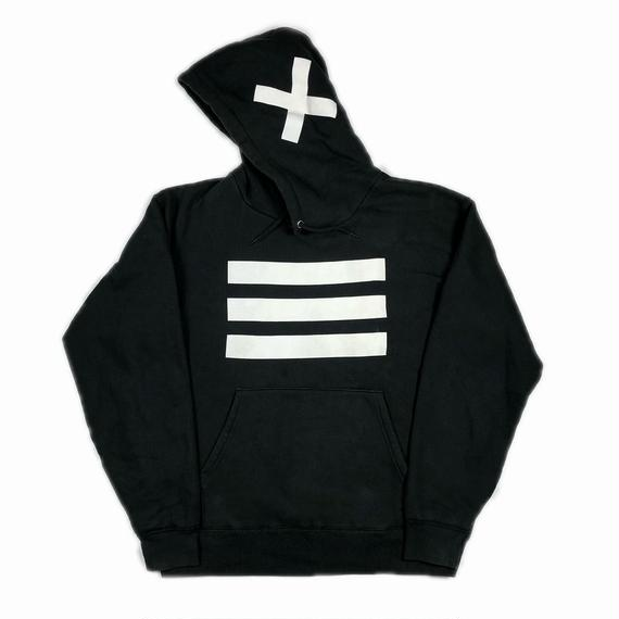 XXIII C'est Vingt-Trois セバントゥア HOODED SWEATSHIRT BLACK WHITE XL 【中古】
