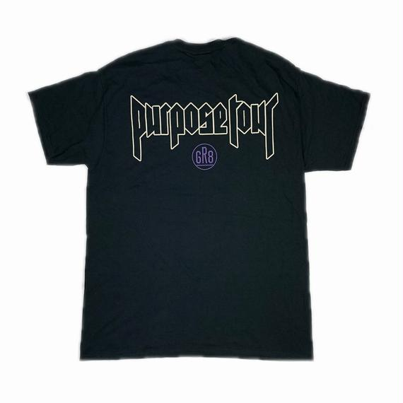 JUSTIN BIEBER PURPOSE TOUR GR8 EXCLUSIVE TEE L 【中古】