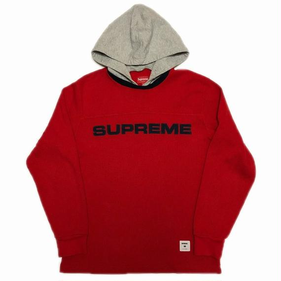 Supreme Hooded Waffle Ringer Red 17AW 【中古】