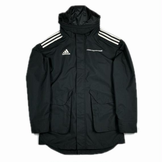 Gosha Rubchinskiy adidas Hooded Nylon Jacket Black S 17AW 【中古】