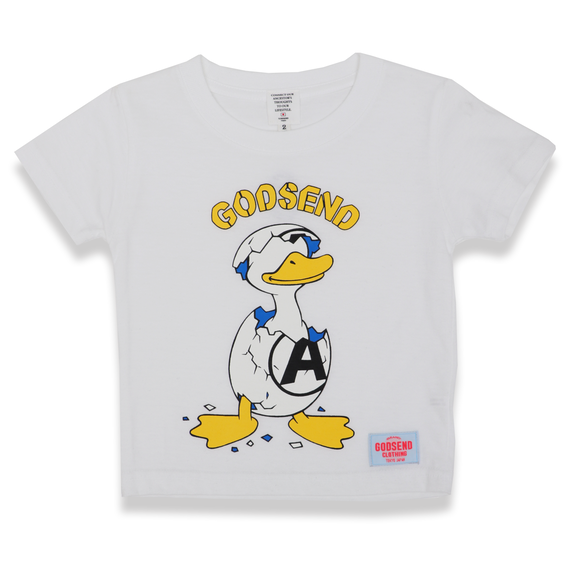 ANARCHY  DUCK  T-Shirts  WHITE