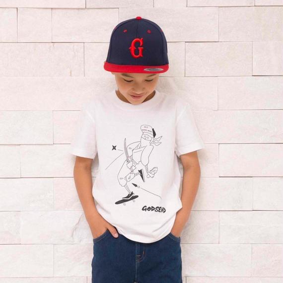 忍者 T-Shirts WHITE  GRAY