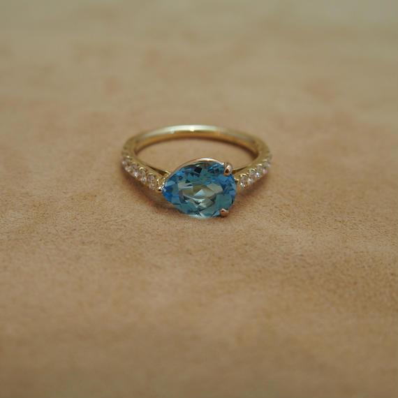 Swiss Blue Topaz (P/S) Ring