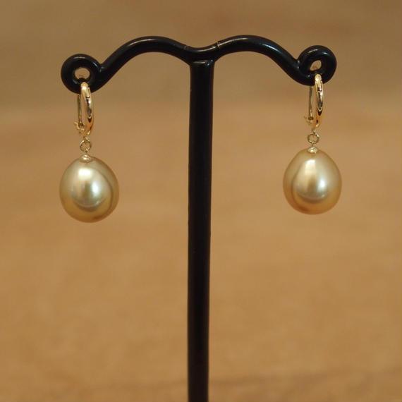 South Sea Pearl Earrings(GOLD)