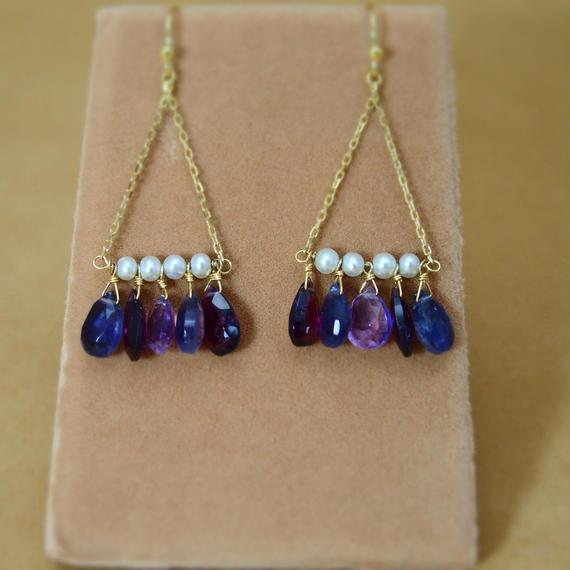3Colors Chandelier Earrings