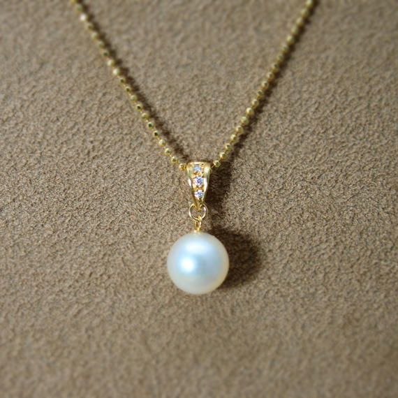 AKOYA Pearl Pendant Top(+Diamond)