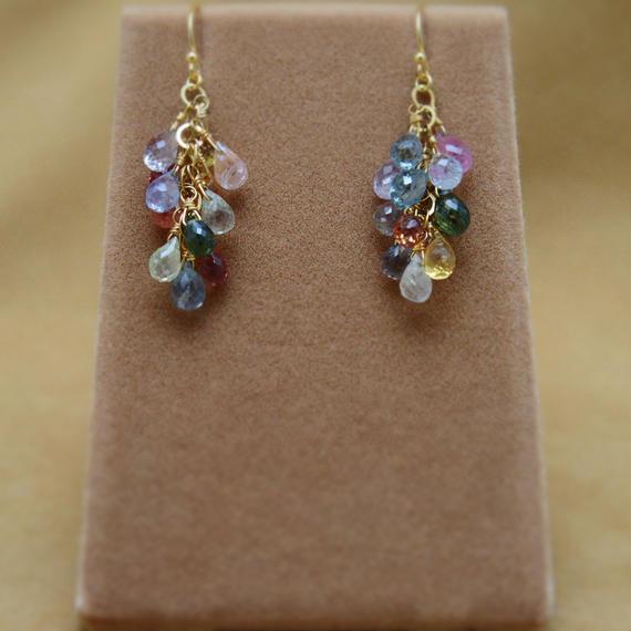 Multi Sapphire Prisum Earrings(d/c)