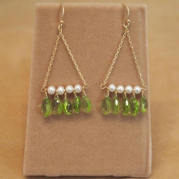 Peridot Chandelier Earrings