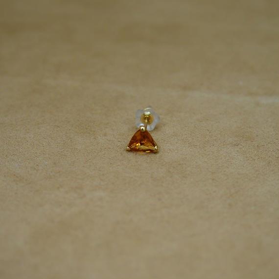 Citrine Single Earring(t/c)