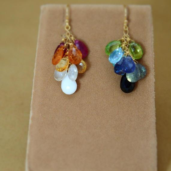 RainbowColor Prism Earrings