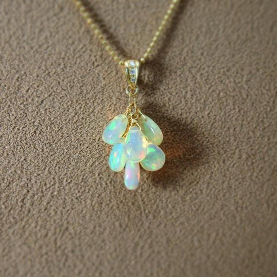 Opal Prism Pendant Top(p/s)