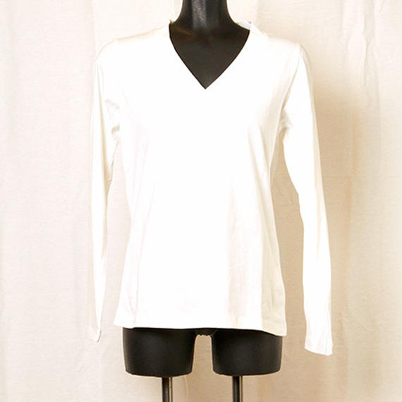 【Z18A07】Laughaha BASIC V L/S ・WHITE(通常価格:7020円)