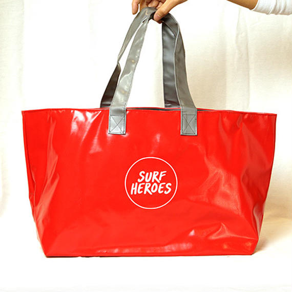 【R18A01】R Wet Big TOTE RED×GREY(通常価格:9288円)