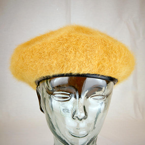 【I18A18】S/H Beret with Faux lether(通常価格:4212円)