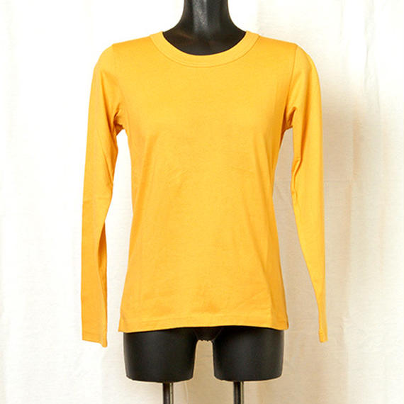 【Z18A06】Laughaha  BASIC CREW L/S ・YELLOW (通常価格:7020円)