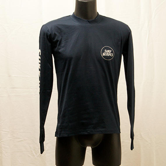[S18A09] HEROES L/S Logo T(NAVY)