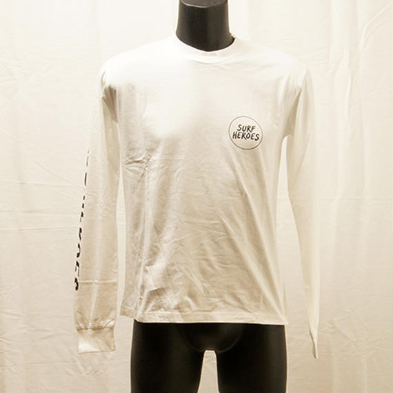 [S18A09] HEROES L/S Logo T(WHITE)