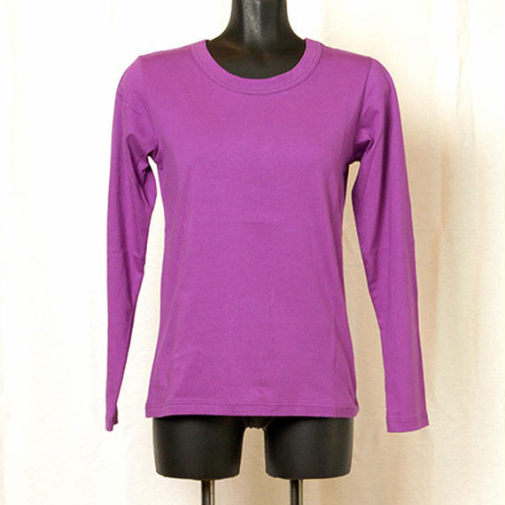 【Z18A06】Laughaha  BASIC CREW L/S ・PURPLE(通常価格:7020円)