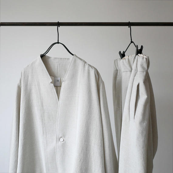 NO CONTROL AIR ノーコントロールエアー ノーカラージャケット POLYESTER DOBBY BUTCHER CLOTH JACKET