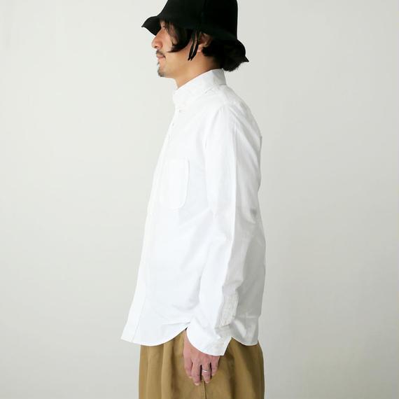 nisica |ニシカ |  オックス ボタンダウンシャツ |ホワイト |NIS836SH