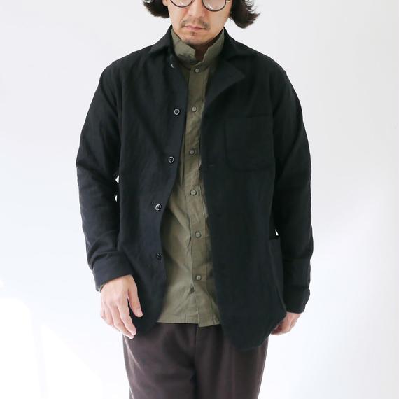 nisica|ニシカ |ウールシャツジャケット|NIS-843|ブラック