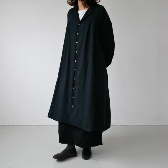 UNIVERSAL SEVEN ユニヴァーサルセブン Japan Linenギャバ フレアシャツドレス US174OP005