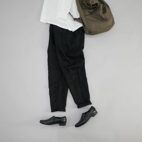 UNIVERSAL TISSU ユニヴァーサルティシュ|リネンギャバ オジパン UT181PT036 BLACK size1(S)