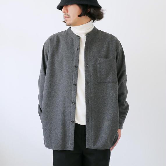 WIRROW|ウィロウ|メルトンスタンドカラーシャツ|size2|グレー