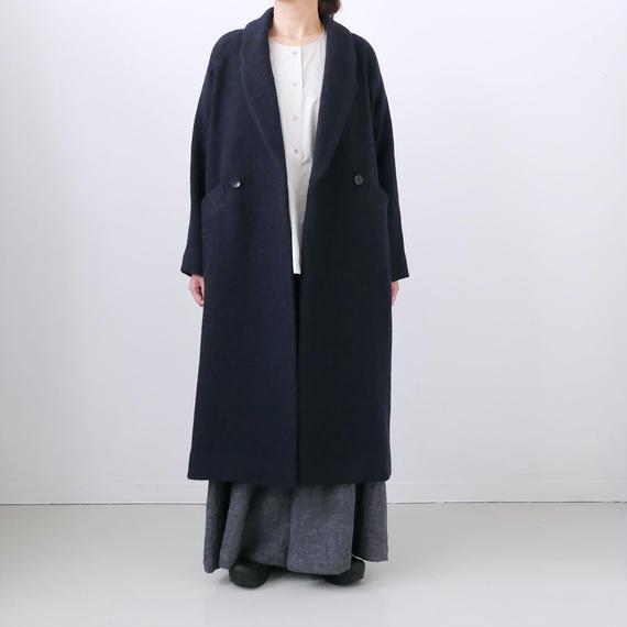BLUE BLUE JAPAN|ブルーブルージャパン|ロービングカスリビッグダイヤWブレストコート | D NAVY|700070608