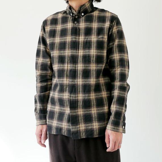 nisica|ニシカ |チェックシャツ |NIS-836|ブラウン