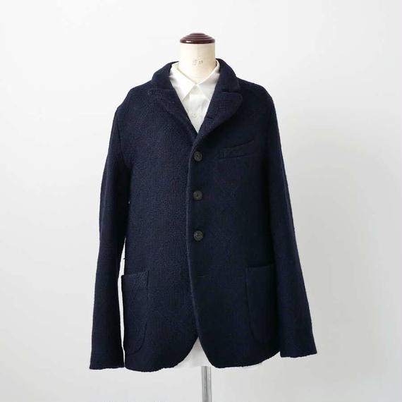BLUE BLUE JAPAN |ブルーブルージャパン| ロービングウールカスリ ビッグダイヤ5Bジャケット|D.NAVY