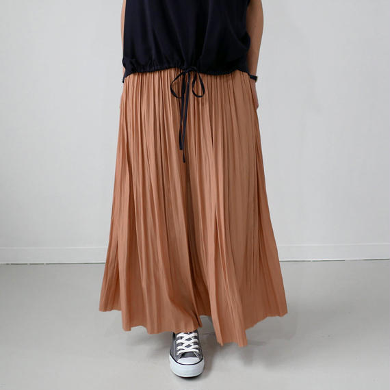 SACRA  サクラ エアリークリスタルプリーツスカート 118109121