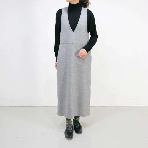 SACRA  サクラ|シャギー ジャンパースカート|GREY|118604041