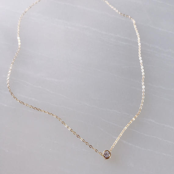 one stone necklace(合成ルビー)