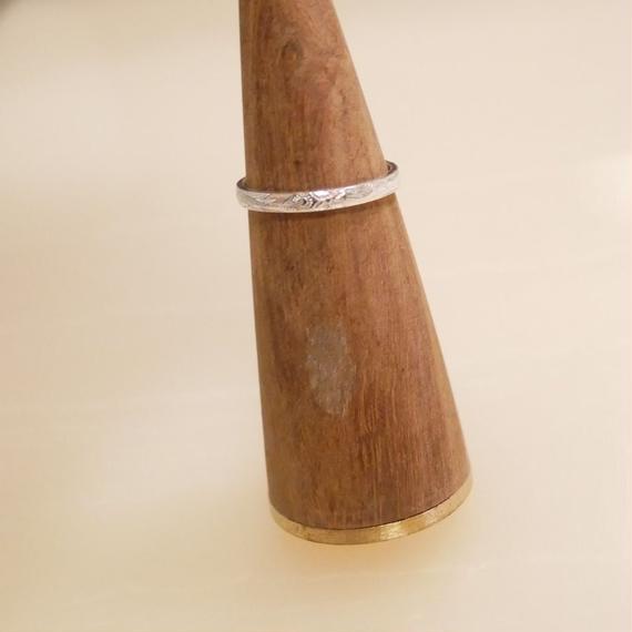 プルメリアリーフ柄ハワイアンジュエリーsilver ring